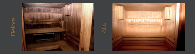 Sauna refurbishment